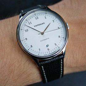 Textured Calfskin Watch Strap Black | WB Original