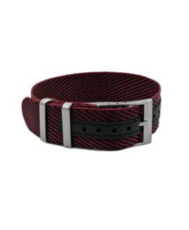 Premium Adjustable Single-Pass Nato Strap_Black-Red_WB Original