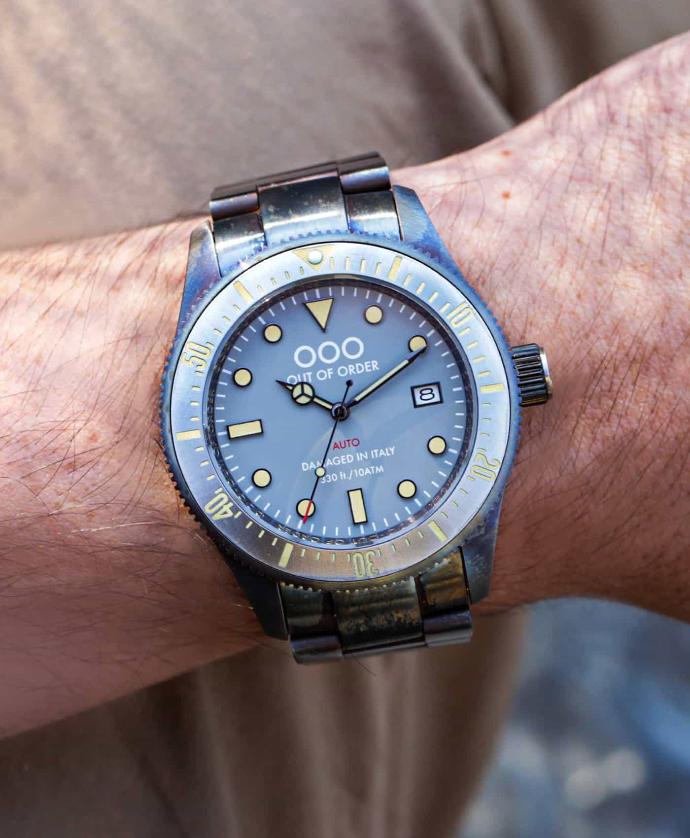 Out Of Order watches-Auto 2.0 Grey_wrist shot