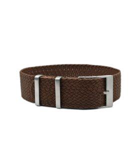 Watchbandit Premium Perlon Watch Strap - Brown