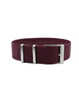 Watchbandit Premium Perlon Watch Strap - Burgundy