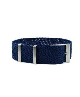 Watchbandit Premium Perlon Watch Strap - Dark Blue