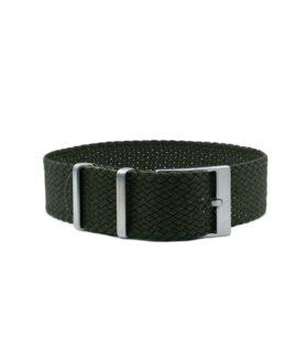 Watchbandit Premium Perlon Watch Strap - Olive green
