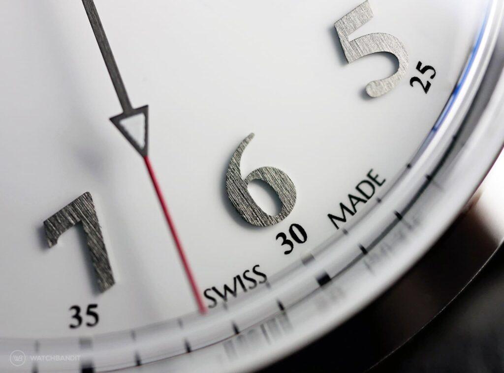 York & Front watches - Burrard - Series 1 - Bright White - Dial macro