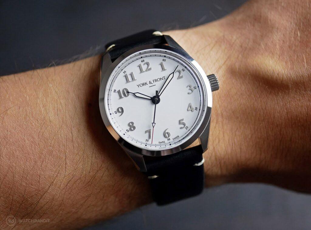 York & Front watches - Burrard - Series 1 - Bright White - Wrist shot