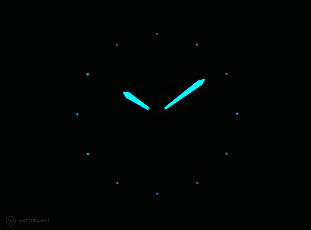 York & Front watches - Burrard - Series 1 - Lume shot