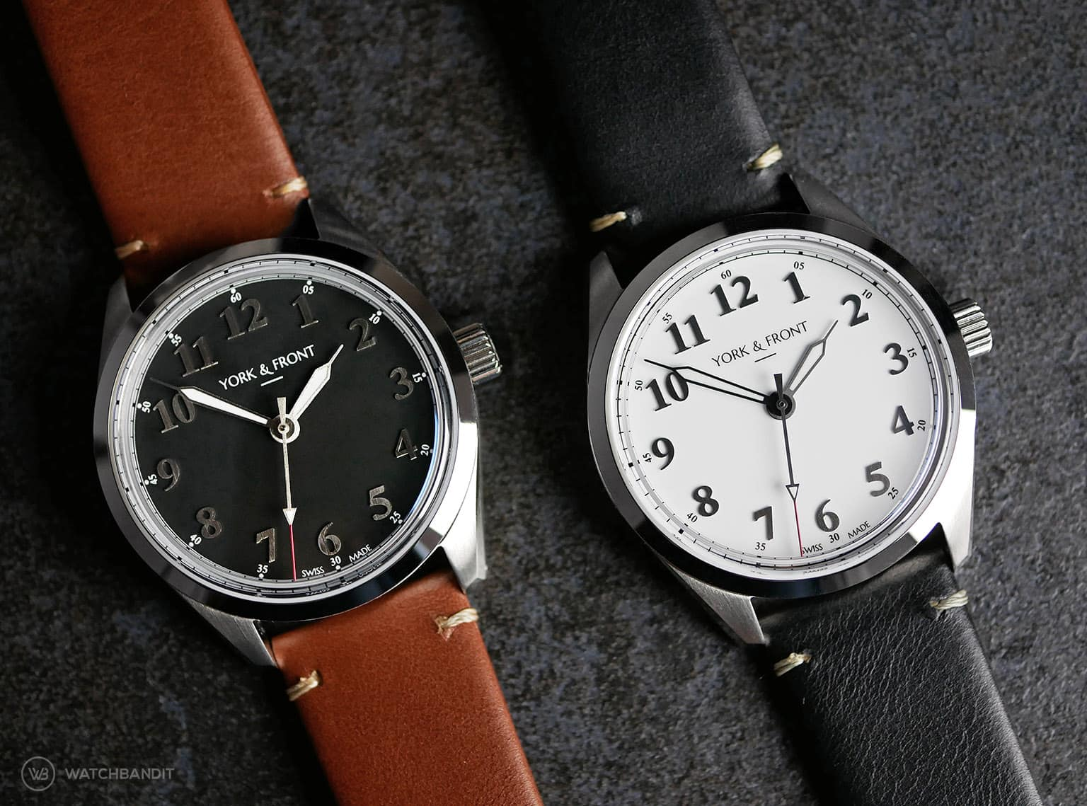 York & Front watches - Burrard - Series 1 - Matte Black - Bright White