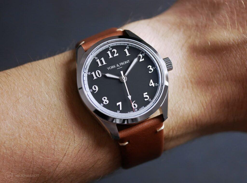 York & Front watches - Burrard - Series 1 - Matte Black - Wrist shot
