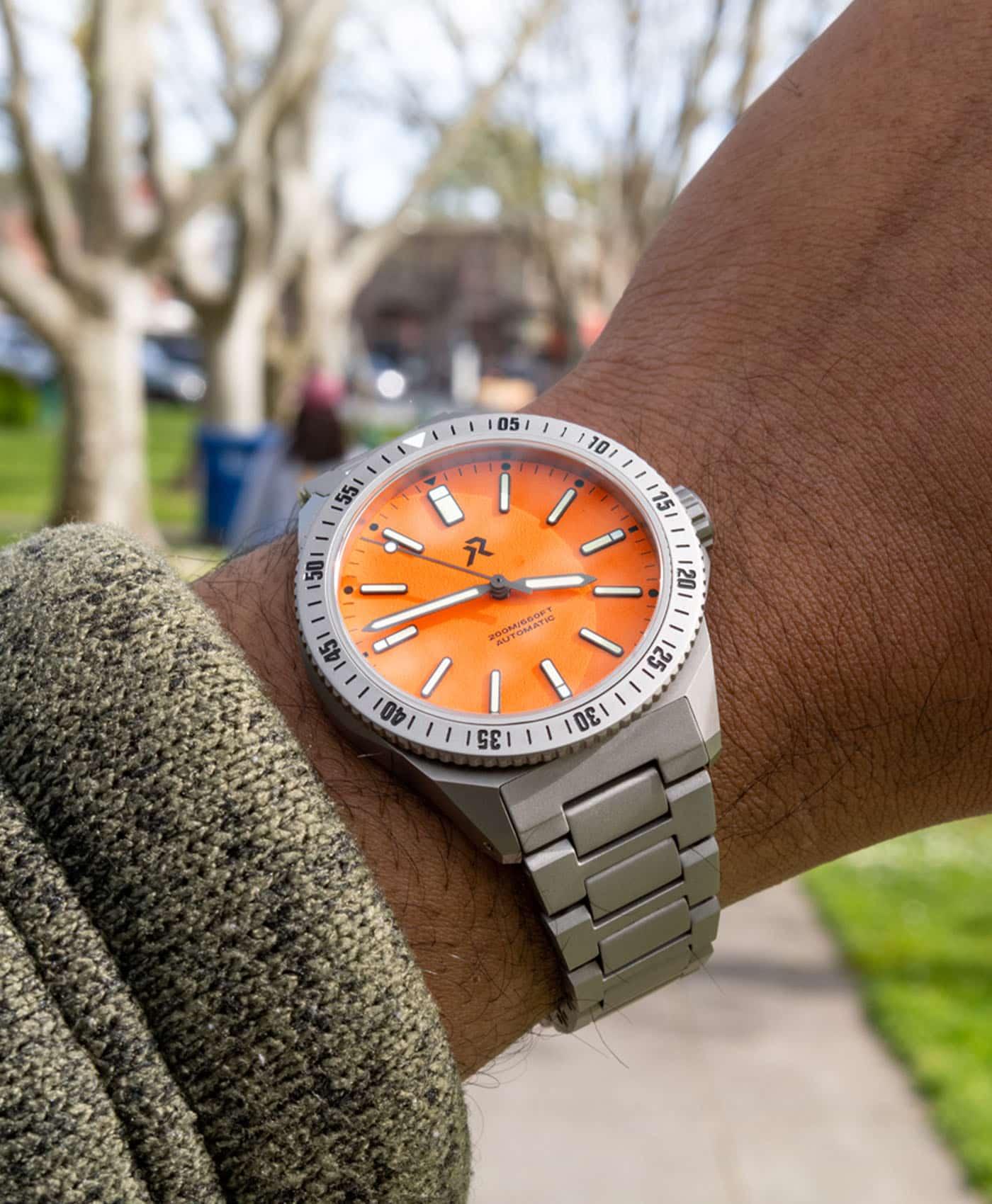 RZE - Endeavour - Rescue Orange - wrist shot